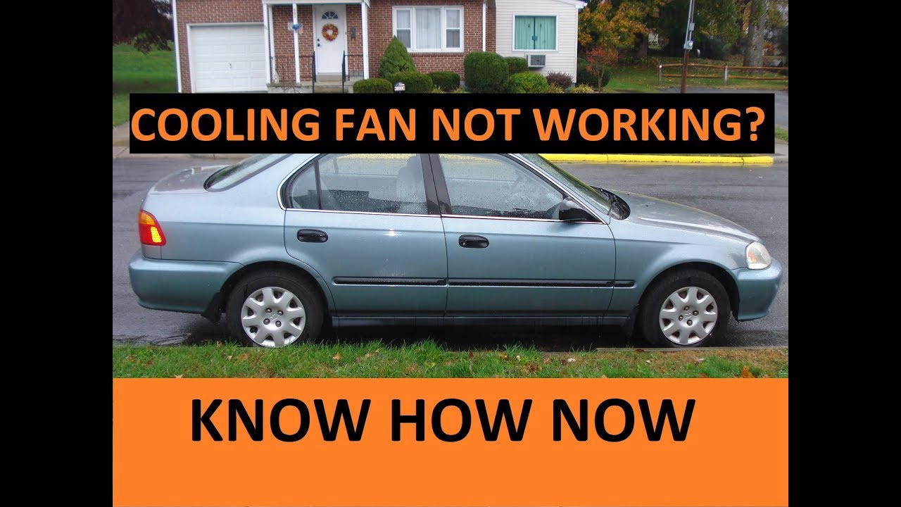how to replace a cooling fan switch 1999 honda civic [ 1280 x 720 Pixel ]