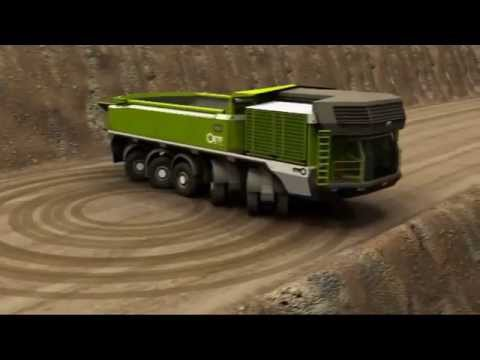 Alien Mining Truck leaves a message UFO in the desert of the Emirates