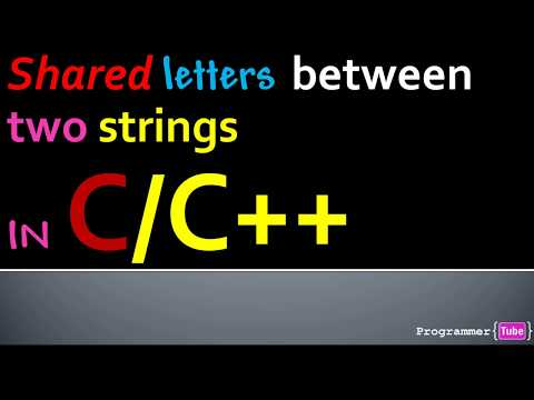 How To Find Common (Shared) Letters Between Two Strings In C/C++