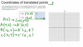 Coordinates of translated points