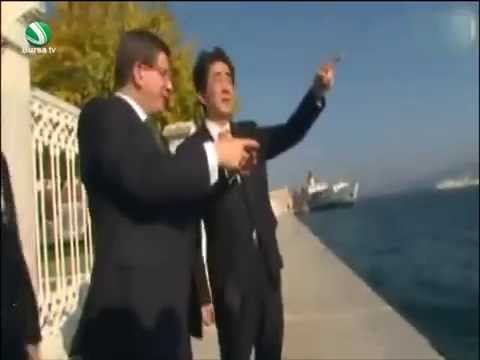 Başbakan Davutoğlu, Japonya Başbakanına Tarihi Yarımadayı anlattı