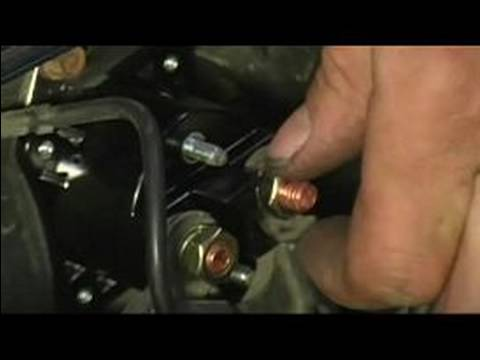 How to Replace a Starter Solenoid : Hooking Up a Starter Solenoid's Electronics