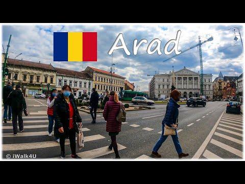 🇷🇴 Arad Old Town Walking Tour 🏙 4K Walk ☁️ Romania 🇷🇴 (Cloudy Day)