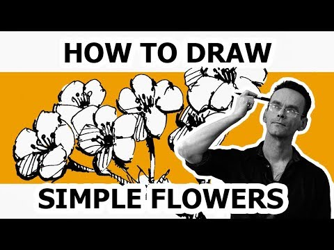 How to draw flowers. How to draw simple flowers step by step . Kichigin Edward. Landscape graphics.