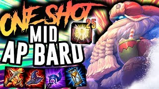 25 MEJAI STACK FULL AP BARD MID CAN ONE SHOT!! - Off Meta Monday - Bard Mid - League of Legends