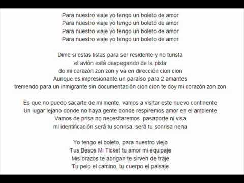 Boleto de Amor – Chino & Nacho – Letra