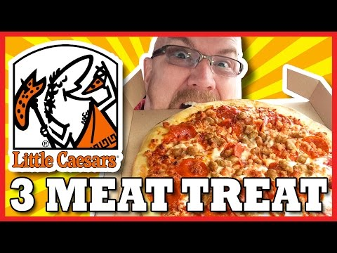 Little Caesars Hot N' Ready 3 Meat Treat, Pepperoni, Sausage and Bacon