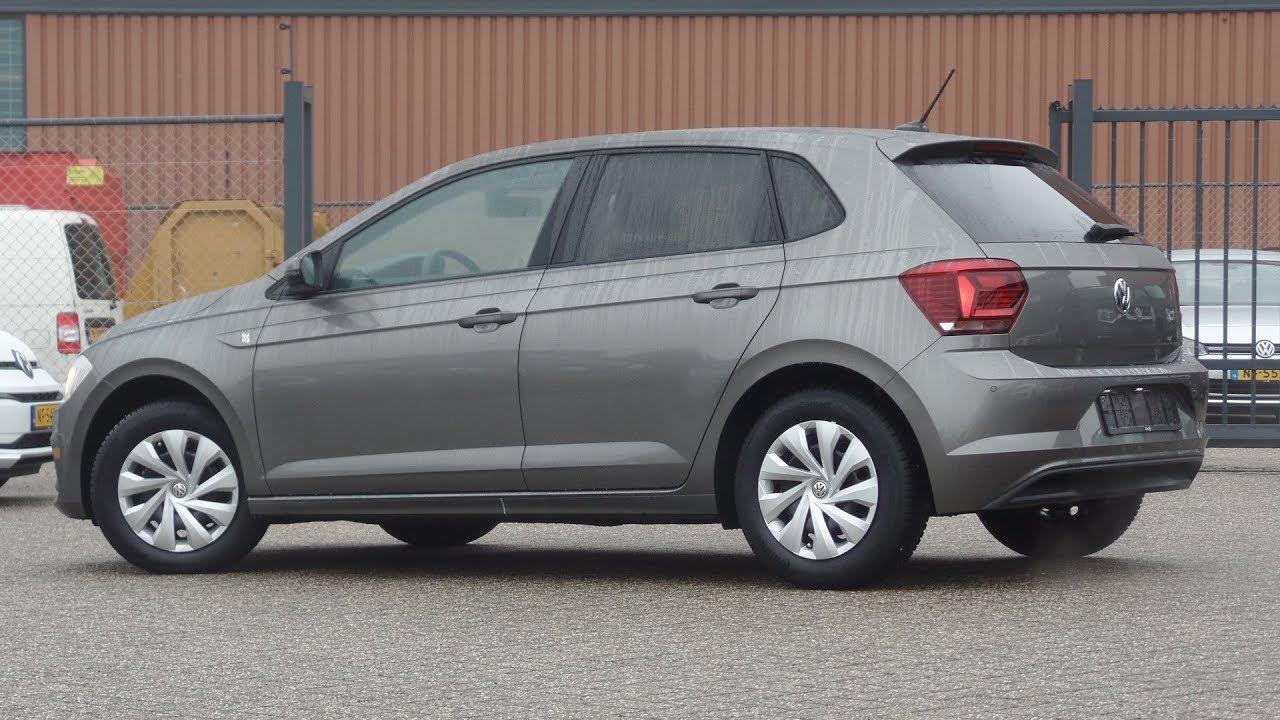 Volkswagen New Polo 2018 Comfortline Limestone Grey Metallic Walk Around Inside Outside