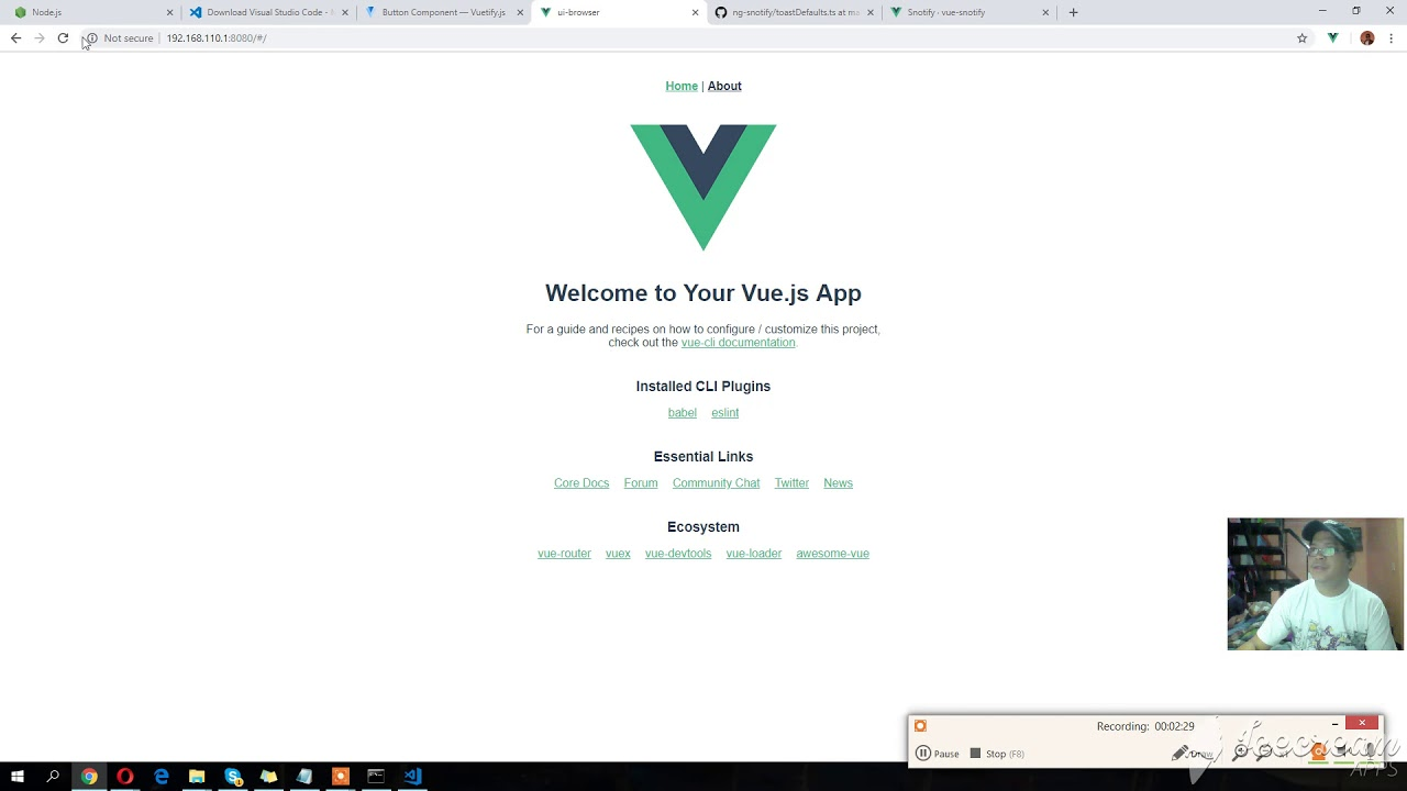 CREATE NEW PROJECT USING BROWSER + NOTIFICATION IN VUE JS PART 3