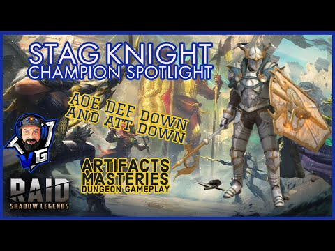 Raid Shadow Legends Stag Knight Champion Build & Guide | Making Banner Lords Great Again!!