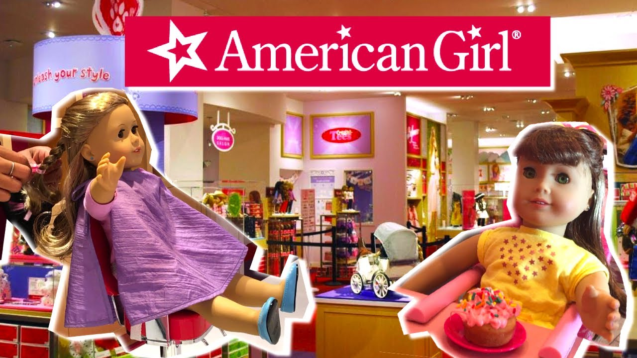 Shopping In American Girl Store Bitty Babies Toys Doll Hair Salon