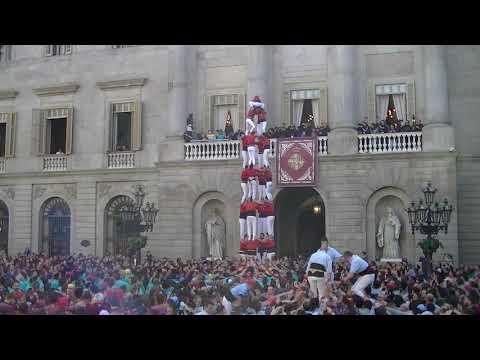 Castellers de Barcelona: 4d8 decarregat Santa Eulàlia 2020
