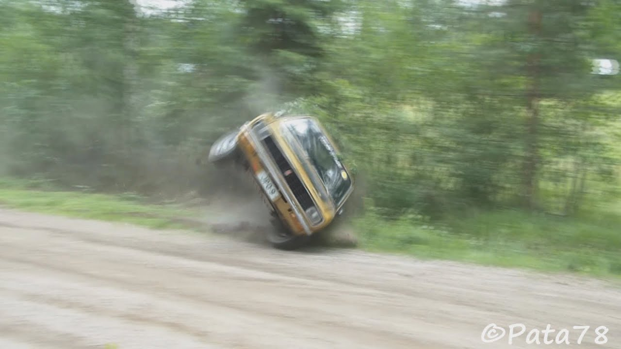 1000 lakes rally 2013 jyv skyl crashes and mistakes