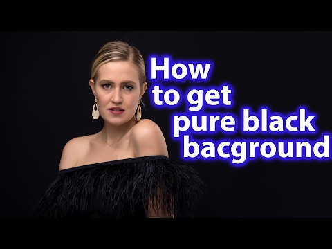 How to get pure black background in studio portrait
