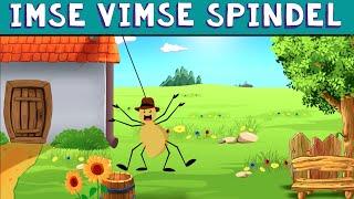 Imse Vimse Spindel | Barnvisa på Svenska | Itsy Bitsy Spider Swedish | Tecknad Film | Barnramsa