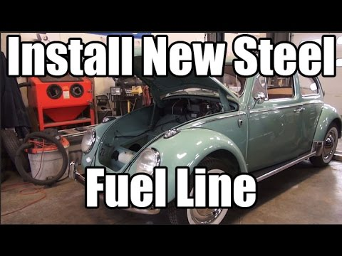Classic VW BuGs How to Replace Install New Steel Fuel Line for Beetle Ghia