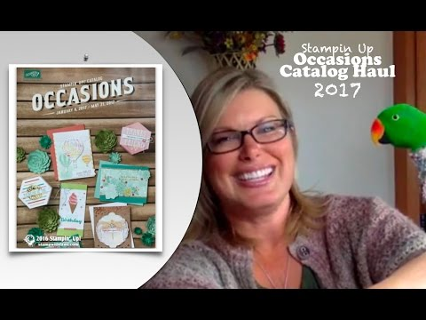 Stampin Up 2017 Occasions Catalog Pre-Order Mega Haul and Photobombing Parrots
