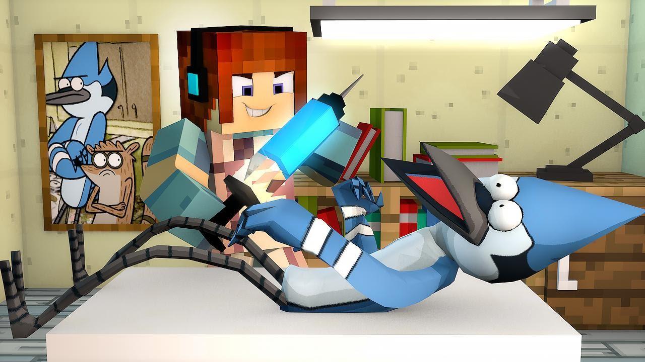 Minecraft Spielen Deutsch Skin Para Minecraft Pe De Mordecai Bild - Skin para minecraft pe do authenticgames