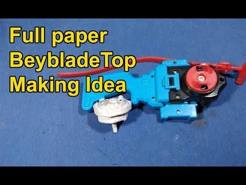 Make beyblade top with full Paper | Make a paper Beyblade Top at Home