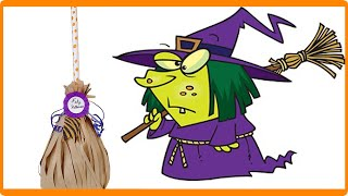 WITCH BROOM WITH SWEETS TO GIVE AT HALLOWEEN 2020
