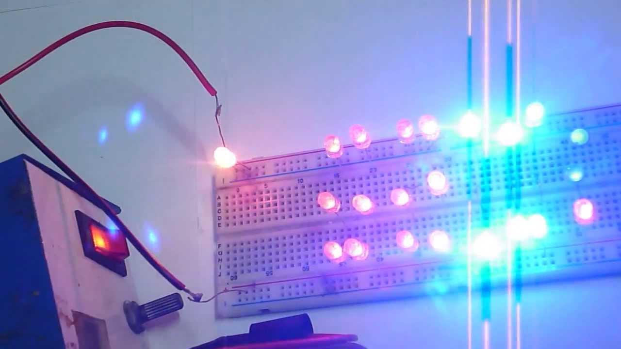 Como hacer luces parpadeantes sin ningun ciruito integrado youtube - Focos led con luces de colores ...