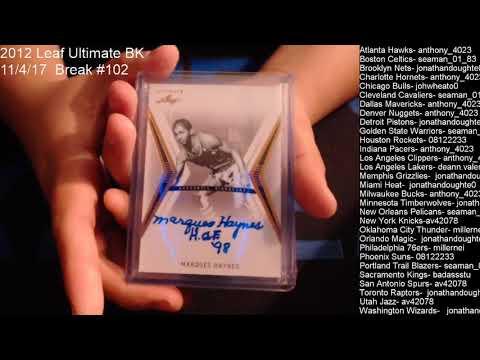 11/4/17 Break #102 BK Leaf Ultimate