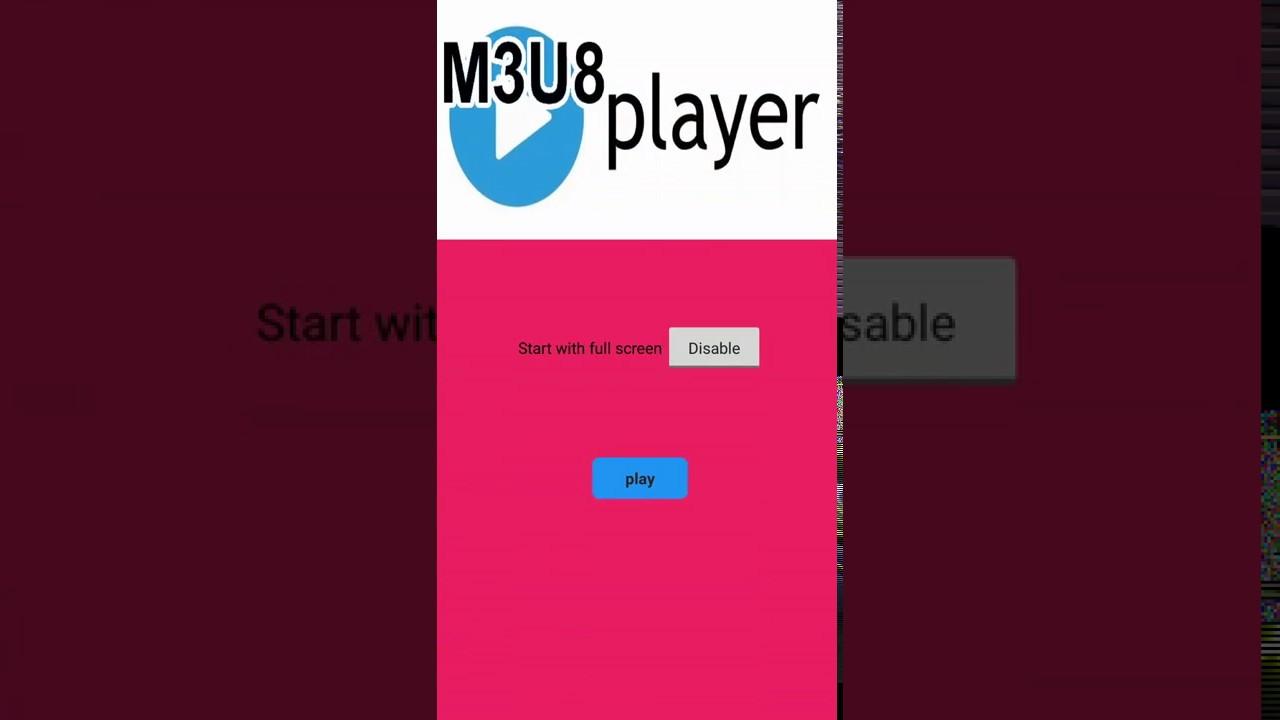 M3U8 Player extension