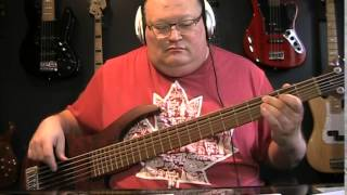 Amon Amarth The Pursuit of Vikings Instrumental Bass Cover with Notes & Tablature