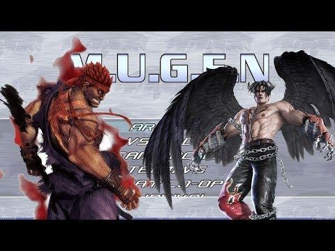 mugen evil ryu vs devil jin youtube