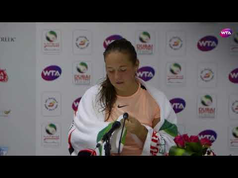 2018 Dubai press conference: Daria Kasatkina 'Thank God I'm
