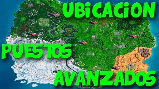 ELIMINA A ENEMIGOS EN PUESTOS DE AVANZADOS SEMANA 4 TEMPORADA 7 FORTNITE BATTLE ROYALE