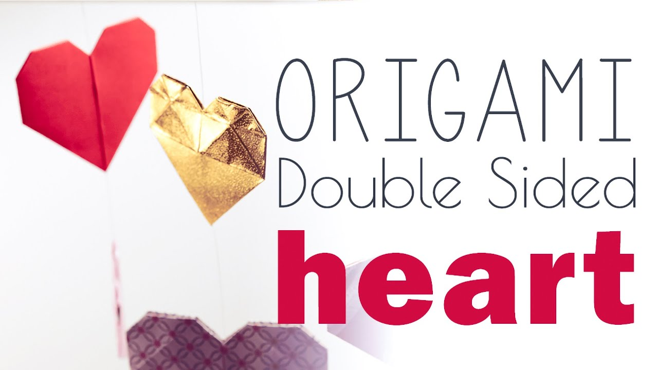 Papercraft Origami Heart - 2 Sided Tutorial