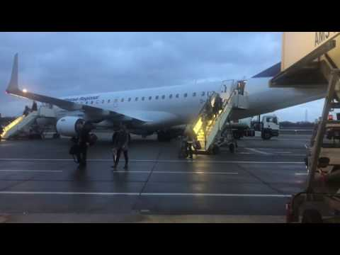 Lufthansa Cityline Embraer 195: Frankfurt - London City, Economy