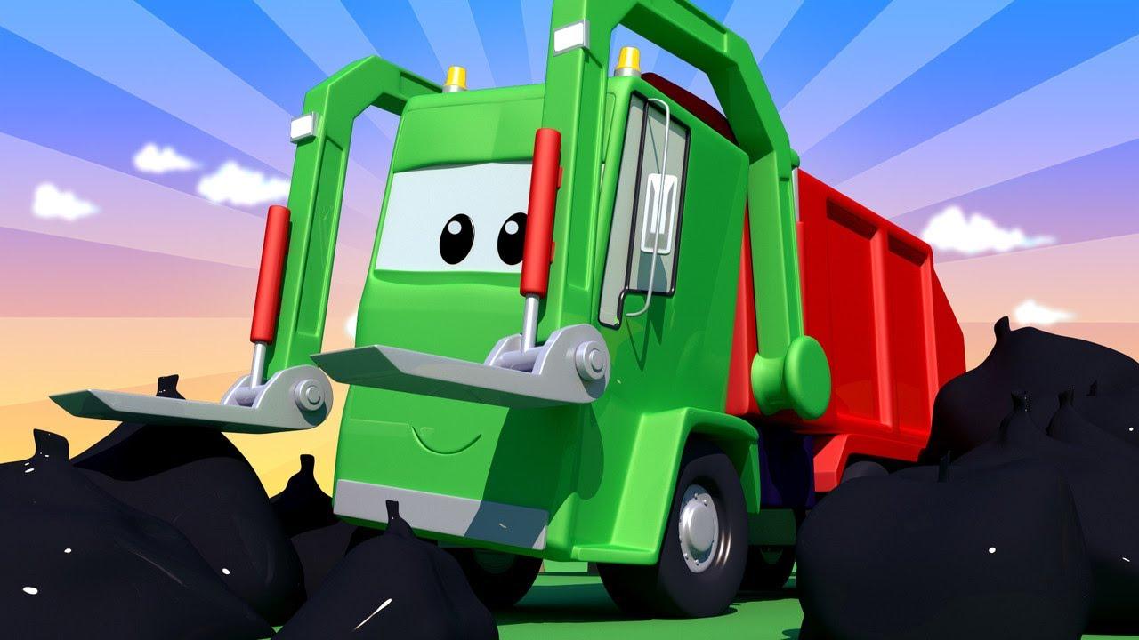 Troy Le Train Gary Le Camion Poubelle La Ville Des Voitures Dessin Animé Trains