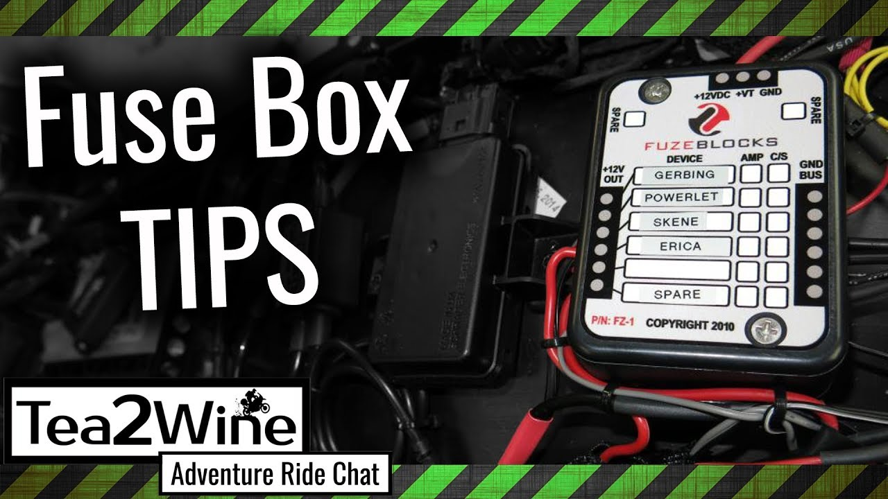 Motorcycle Fuse Box A Power Hub For Your Accessories Youtube Custom 12v Dualsport Motorcycles Adv