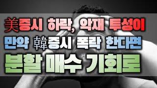 美증시 하락, 악재 투성이, 만약 韓증시 폭락 한다면 …