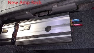 Building Amp Rack With Scraps. Cleaning Up Wires. Mounting New Amp. Suburban Audio System Build #6