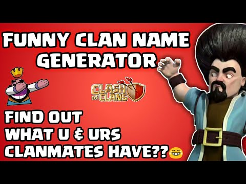 Clan Name Generator - Whats Ur Funny Clan Name??😂||Funny Update😁||Clash Of Clans😍