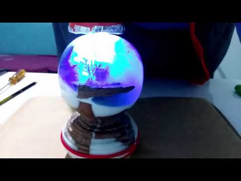 Making Christmas Sphere with Wood and Epoxy Resin / Ahşap ve Epoksi Reçine ile Yılbaşı Küresi Yapımı