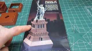 Lindberg 1/225 Statue Of Liberty Vintage Model Kit Review Kit 70314.