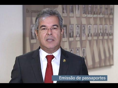 #falasenador: Jorge Viana explica como será retomada a emissão de passaportes