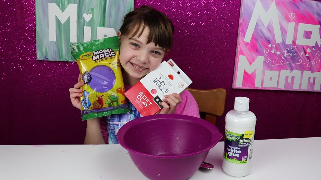 How to make butter slime with crayola air dry clay