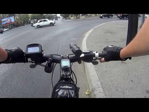 Редукторное мотор-колесо 36 вольт, 250 ватт. Поездка на работу. Stels Navigator 930.