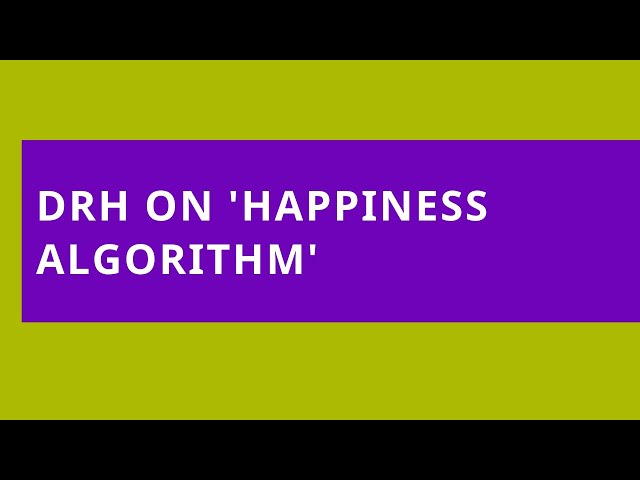 Happiness Algorithm at Phoenix FM: Blogging, Well-being and Happiness