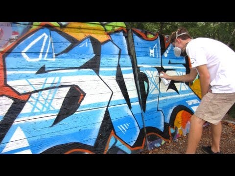 Straight Letter Graffiti Painting