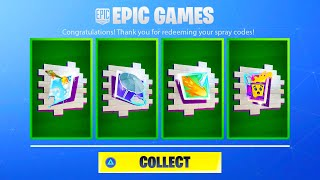 FORTNITE FREE EXCLUSIVE SPRAYS! FORTNITE NEW COMET, TAKE COVER, PLAY TO WIN, STAY SMOOTH SPRAY