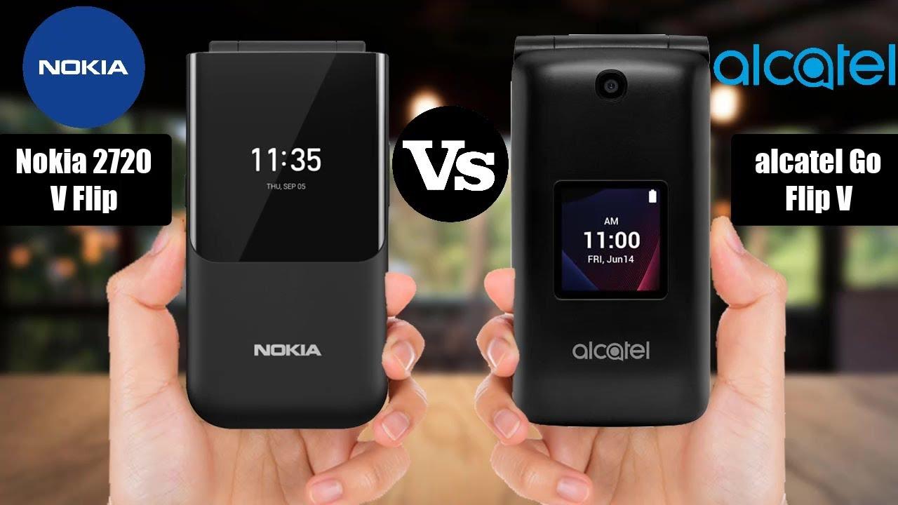Nokia 2720 V Flip Vs Alcatel Go Flip V Youtube