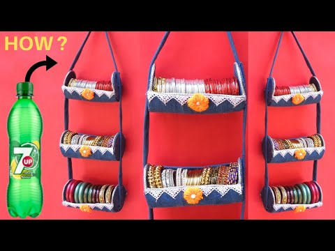 Bangle Holder making at Home with Plastic Bottle & old Jeans | Best out of waste
