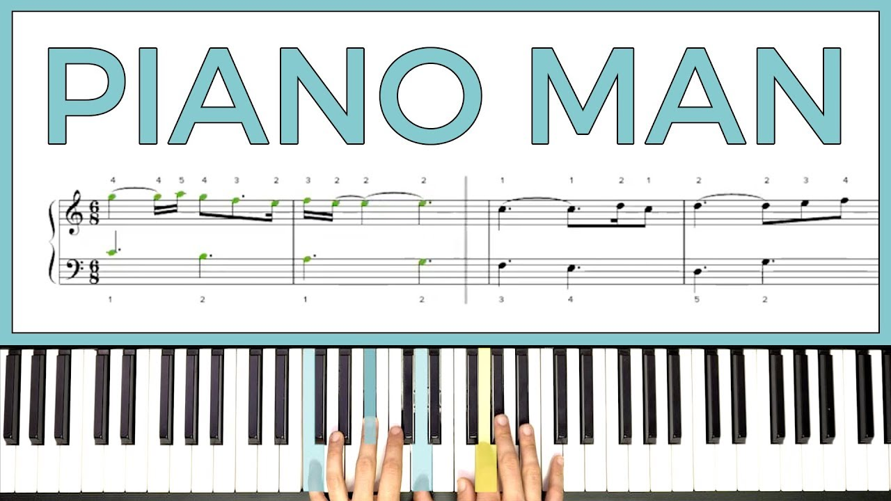 learning how to play piano man