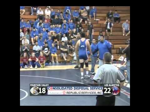 Los Al HS Wrestling vs. Fountain Valley - Jan. 4, 2012